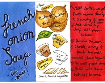 French Onion Soup- illustrated recipe