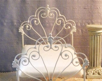 "Artisan Made American Girl 20"" Scale Wrought Iron Look Bed ""Bryonny"""