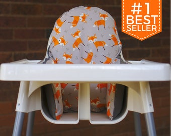 Fox IKEA High Chair Cover, IKEA Antilop Cover, Highchair Cover, High Chair Cushion, High Chair Insert, Pyttig, 1st Birthday, Cake Smash Prop