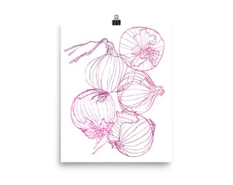 Red Onion Outlines