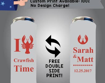 I Love Crawfish Time 24 oz Large Can Holidays Cooler Double Side Print (24LC-Crawfish01)