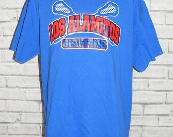 Size XL vintage 90s USA American sports short sleeve t-shirt royal blue (HZ20)