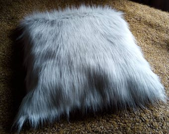 Fake fur cushion