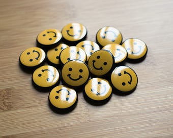Smile Pin, Smiley buttons, Custom Pins, Lapel Pins, Custom lapel Pins, Custom Enamel Pins, Lapel Pins custom, Enamel Pin Maker, Customized