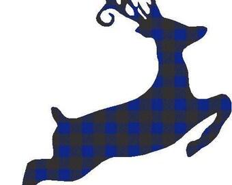 Buffalo Plaid Deer Transfer 2