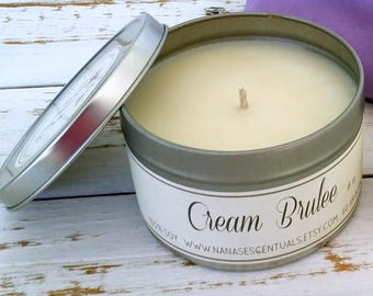 FREE SHIP-Fall Scents 16 oz 100% Soy Tin Soy Candle, Handmade gift, Scented Soy Candle, Hand poured, Bridal Shower, Baby Shower,Congrats