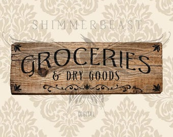 Farmhouse SVG | Groceries & Dry Goods svg | Kitchen SVG | Groceries svg | Vintage svg | farmhouse svg files | rustic svg | country svg