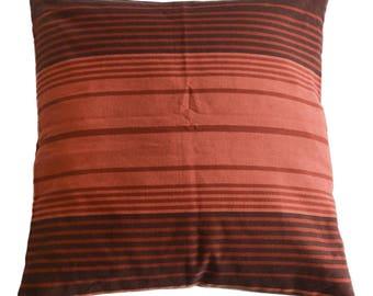 Pillowcase of happy stripes - fair trade, 100% cotton, 50x50cm, #280