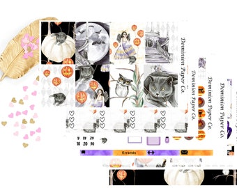 Halloween Fall Autumn Classic Happy Planner Weekly Kit