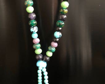 Mala multicolored prayer beads