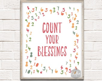 Printable Count Your Blessings