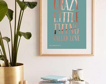 "Queen - ""Crazy little thing called love"" Print"