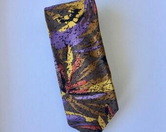 Retro Multicoloured Polyester Pierre Cardin Mens Tie Colorful Menswear Made In Australia