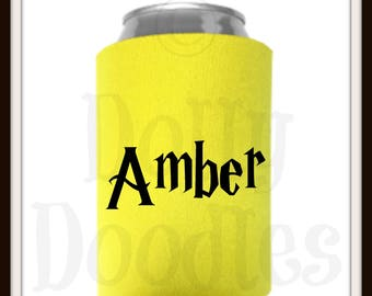 Personalized NAME Can Wrap - Drink Cooler - Beverage Insulator