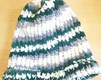 Slouchy winter hat for dreads