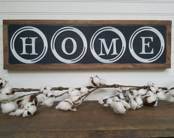 Home Sign - Home Decor - Home Wood Sign - Wood Signs - Wooden Signs - Farmhouse Style - Entryway Decor - Rustic Signs