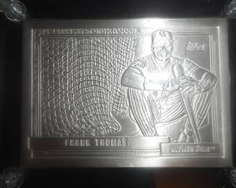 HighLand MINT Card of    FRANK THOMAS  4.25 Troy Ounces .999 Fine Silver      #0553 of 1,000