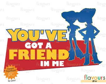 You've Got A Friend In Me - Woody And Jessie - Toy Story Inspired - Digital Files - Digital Clip Art - Printable