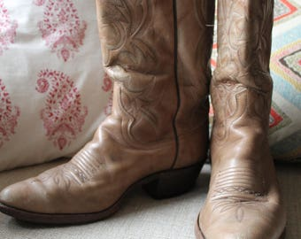Vintage Dan Post Cowboy Boots Men's 8/Women's 10