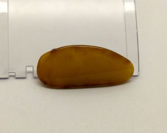 Russian egg yolk amber  brooch #313