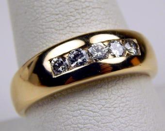 14k yellow Gold .50 Ctw diamond band ring #10539