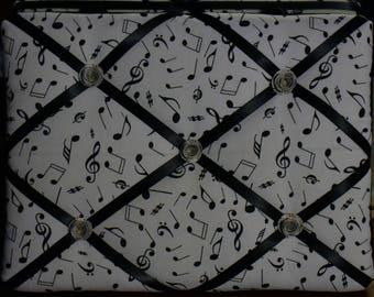 9x12 White Music Note Memory Board