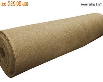 """ON SALE 40"""" Wide 100% Natural Jute Upholstery Burlap Roll 10 Yard Roll"""
