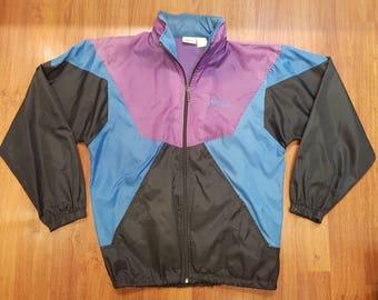 Vintage Brooks Light Jacket, Multicolored Brooks Windbreaker, Size Mens L