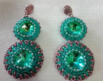 Victoria green blue earrings