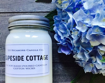16 oz. Capeside Cottage Pure Soy Candle with Cotton Wick
