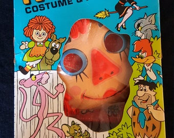 Vintage Ben Cooper Raggedy Ann TV-COMIC Costume & Mask