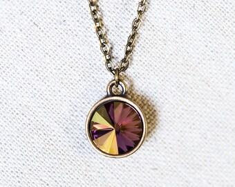 Rose Starlight Swarovski Crystal Necklace