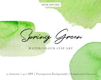 Green Watercolour Clip Art, Watercolour Splashes Clip Art, Watercolour Splotches Clip Art, Spring Green Clipart, Green Clip Art, Scrapbook