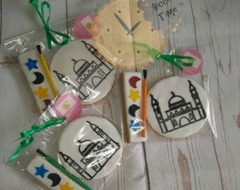 Paint your own mosque iced biscuit gift set