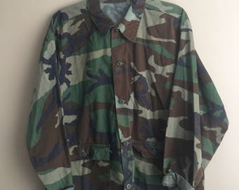 Vintage Army Camouflage Jacket