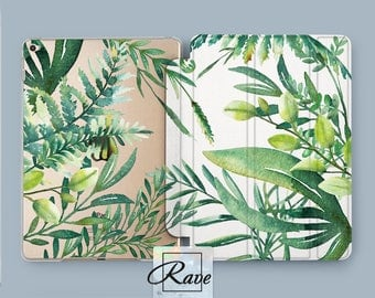ipad case plant tropical skin ipad air case plant skin clear floral case iPad 2 case 2017 ipad pro 12.9 ipad pro 12.9 case ipad smart case