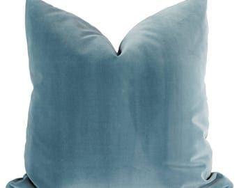 Parisian Blue Velvet | Pillow COVER Only