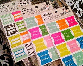 3 pk Bundle Set by American Crafts : Set of 3 Packs of Bible Journaling Sticker Tab Sets