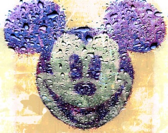 Rainy Mickey in Bangkok Mickey, Disney, imprimable, dessin, peinture, décoration, enfant, tableau, illustration, print