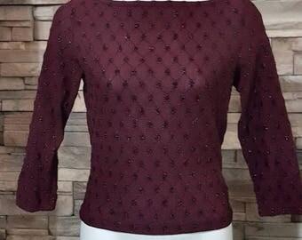 Sale/Burgundy stretch top Size XS
