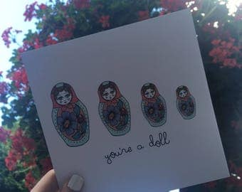 "Central 23 Greeting Card ""You're A Doll"""