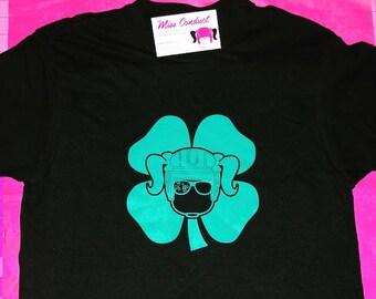 Miss Conduct Hockey Shamrock Girl Goon St Patricks Day Tshirt
