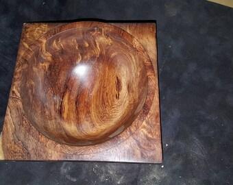 Rosewood burl bowl