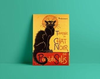 Le Chat Noir, chat noir, théophile steinlen, le chat noir charm, chat noir poster, chat noir print, chat noir black cat, steinlen cat