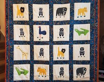 Child's quilt playmat