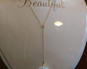 Drop Pendant Raw Quartz Necklace
