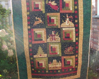 Christmas Log Cabin Wall Hanging