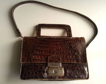 Cocodrile leather bag