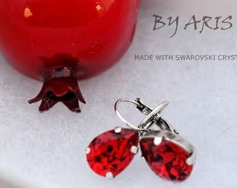 Swarovski Teardrop Earrings