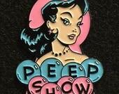 Peep Show Enamel Lapel Pin